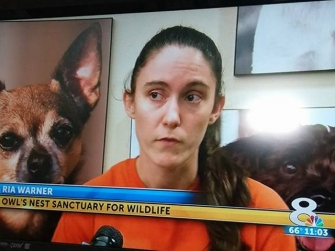 Volunteer Ria Warner speaks to WFLA News Channel 8 about Vader's story and asks that anyone with information please contact FWC.